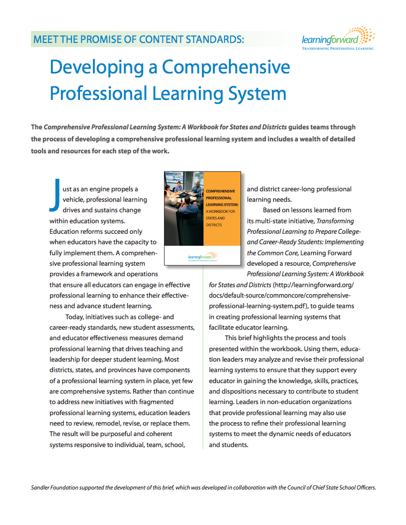 learning-forward-developing-a-comprehensive-professional-learning-system